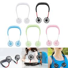 <b>1pc USB</b> Portable Fans Neckband Fans with <b>USB Rechargeable</b> ...