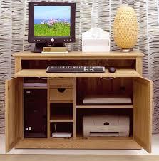 nara solid oak hidden home office puter desk 549 00 1 of 10 baumhaus hidden home office 2 door cabinet