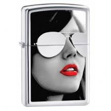 <b>Зажигалка Zippo</b> 28274 <b>Sunglasses High</b> Polish Chrome