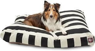 Black Vertical Stripe Large Rectangle Pet Bed : Pet ... - Amazon.com