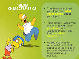 lisa simpson on thesis statements topic sentences