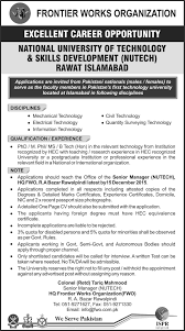 job in national university of technology skills development nutech job in national university of technology skills development nutech job rawat islamabad