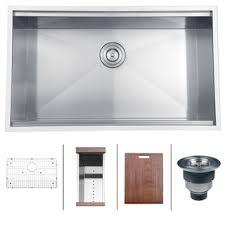 undermount kitchen sink stainless steel: ruvati  gauge stainless steel  inch rectangle single bowl undermount kitchen sink