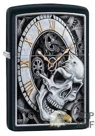 <b>Зажигалка Skull Clock</b> Design <b>ZIPPO</b> купить в Москве в интернет ...