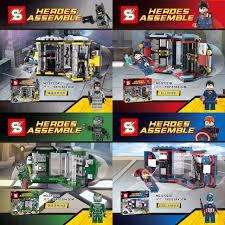 4pcsset sy223 building block toys super heroes avengers minifigures case batmansuperman batman superman iron man