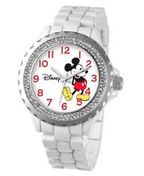 ewatchfactory Disney Mickey <b>Mouse</b> Women's White <b>Alloy Enamel</b> ...