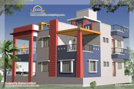 Duplex House Plan and Elevation   Sq  Ft    home applianceDuplex House Plan and Elevation view   Sq M   Sq  Ft