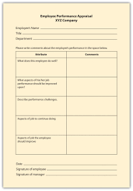 employee assessment checklist scale