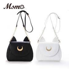 Сумка через плечо MSMO White/Black <b>Sailor Moon Luna</b>/Artemis ...