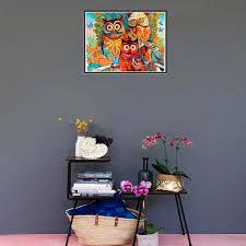 Embroidery 5D DIY Family Owl <b>Rhinestone</b> Diamond Painting ...