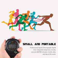 Mandalaa <b>Waterproof Digital LCD</b> Stopwatch Chronograph Timer ...