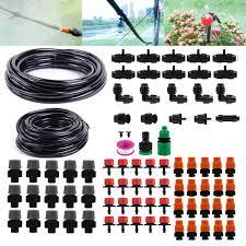 25m Garden DIY <b>Automatic Watering</b> Micro Drip <b>Irrigation System</b> ...