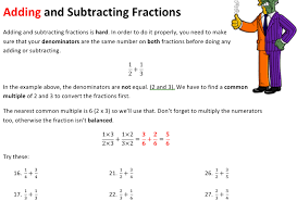 Adding and Subtracting Fractions Worksheet | Solve My MathsAdding and Subtracting Fractions