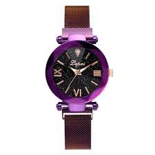 <b>Fashion Starry Sky</b> Stainless Steel Mesh Belt Watch Casual Quartz ...