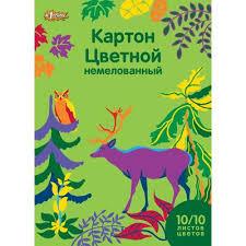 <b>Картон цветной</b> №1 School Живая природа (<b>А4</b>, 10 листов, 10 ...