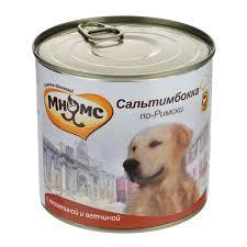 """<b>Консервы</b> для собак <b>Мнямс</b> """"<b>Сальтимбокка по-Римски</b>"""", с ..."""