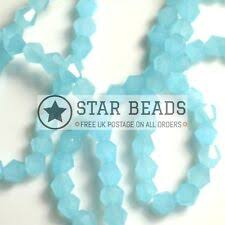 Blue Opaque Faceted Jewellery Beads for sale | eBay