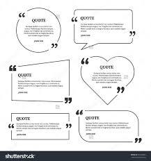 quotation mark speech bubble blank template stock vector  quotation mark speech bubble blank template black color