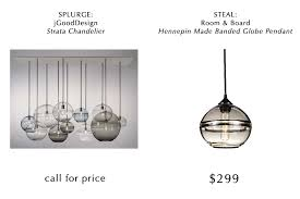 splurge steal_glass pendant blown glass pendant lighting