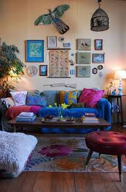 Texture Paints For Living Room Living Room Comfortable Bohemian Living Room Design With