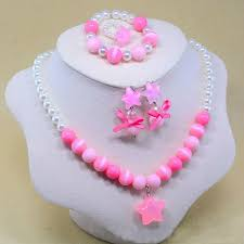 <b>5PCS</b>/<b>set</b> Baby Kids Girls Child Pearl Star Flower Shape Necklace ...