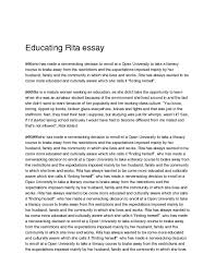 educating rita essay studypool