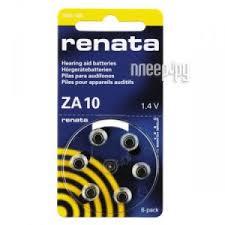 Купить Батарейки Renata ZA10 (6 штук) по низкой цене в Москве ...