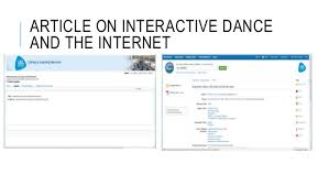 ARTICLE ON INTERACTIVE DANCE AND THE INTERNET