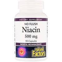 Natural Factors, <b>Ниацин</b>, <b>100 мг</b>, 90 таблеток - iHerb