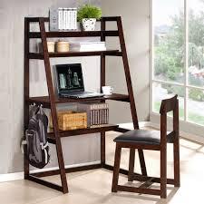 brilliant corner office desk desks on dark brown laminated flooring brilliant ladder shelf computer awesome corner office desk remarkable brown wooden