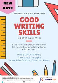 event details good writing skills kaplan campuslife good writing skills