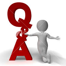question and answer q a sign and d character as symbol for support question and answer q a sign and 3d character as symbol for support stock image