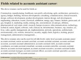 16 fields related to accounts assistant sample accounting assistant cover letter