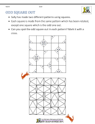 second grade math problems math problems printable odd square out