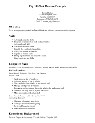Resume Examples: Sales Clerk Resume Sample Duties And ... ... Resume Examples, Payroll Clerk Resume Example With Objective Statement And Skills In Using Computer Or ...