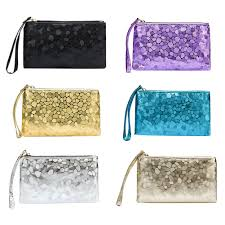 <b>Fashion Women Wallet Sequins</b> Solid Color Clutch PU Leather ...
