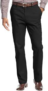 Haggar Men's <b>Performance Cotton</b> Slack Straight-Fit Plain-Front Pant
