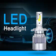 <b>Aslent</b> C6 Car Headlight <b>H7</b> LED H4 Bulb H1 H3 H11 HB3 9005 ...