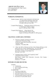 resume format examples for students samples of resumes resume format for mca student