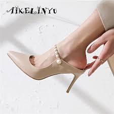 <b>AIKELINYU</b> Summer Pointed Toe Sexy Super High Heeled <b>Women</b> ...