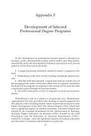 appendix f development of selected professional degree programs page 97