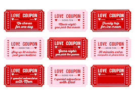 printable love coupons for him printable pages printable love coupons for kids on valentine s day catch my