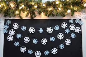 snowflake <b>window</b> decor Snowflake <b>garland</b> ric rac <b>Christmas</b> ...