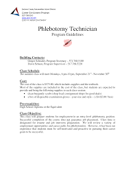phlebotomy duties and responsibilities phlebotomy resume