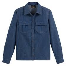 Прямая <b>джинсовая рубашка</b> синий Vanessa Seward X <b>La Redoute</b> ...