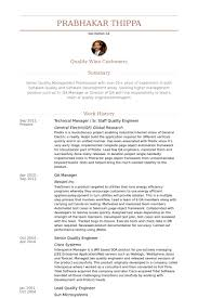 technical manager sr staff quality engineer resume samples resume format for quality engineer