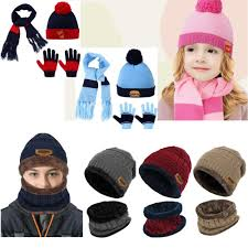 Allcaca - Kids <b>Winter</b> Hat-Allcaca <b>2 Pieces</b>/<b>set</b> Kids <b>Winter</b> Knitted ...