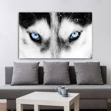 <b>Wolf</b> Head Animal Poster <b>Abstract</b> Nordic Art Canvas Print <b>Creative</b> ...