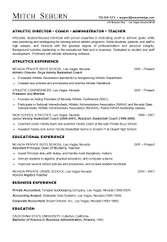 coach resume example track coach cover letter