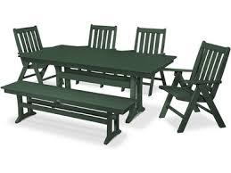 Westport <b>Chair</b> Co. Vineyard <b>6</b>-Piece Farmhouse <b>Folding Dining</b> Set ...